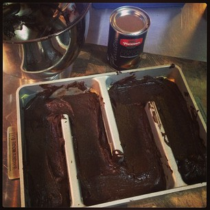 Alton Brown's Cocoa Brownies happening in my kitchen now. #lickedthebowl