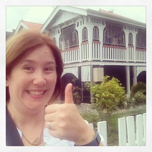 Spotted my first Queenslander (house) today!