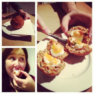 Chorizo Scotch Egg!