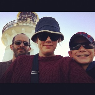 The Cool Dudes Club looking for whales at Smoky Cape Lighthouse.
