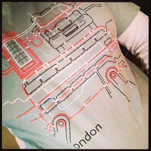 My other pressie - a T-shirt from the London Google office. :)