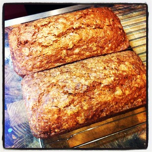 Zucchini bread. Co-workers: you can thank me in the morning.