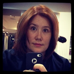 New stylist! Quite happy. Layered cut, copper with blonde bits. Nothing drastic. #selfie