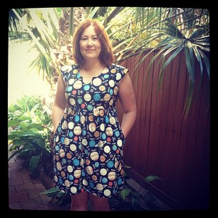 Now for the big reveal: my finished Out-of-this-World Washi Dress! #partytime