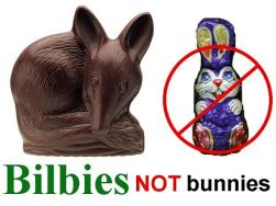 Bilbies, not bunnies!