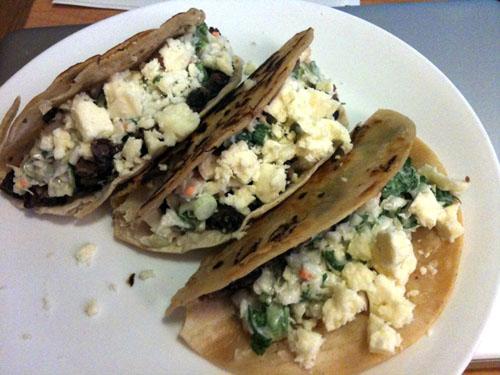 Crispy Black Bean Tacos with Feta and Cabbage Slaw | web-goddess