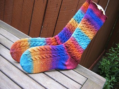 Widdershins in Noro Kureyon Sock