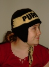 Side view of Purdue hat