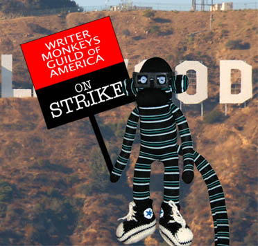 Striking Writer Monkey
