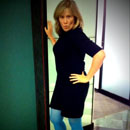 Super Spy dress from Heartbreaker, blue tights, boots