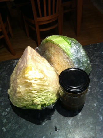 Cabbage ingredients
