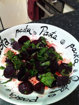 Dressing the beets