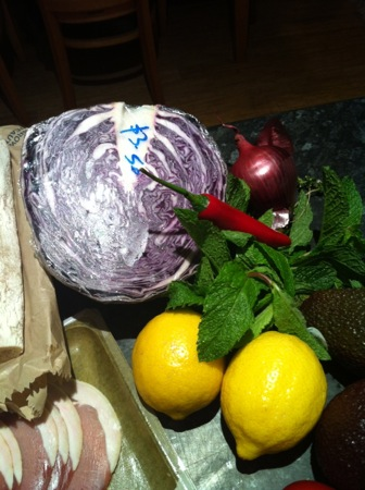 Red cabbage ingredients