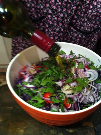Dressing the slaw