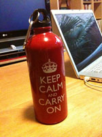 Keep Calm and Carry On bottle
