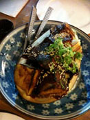 Eggplant with sweet miso