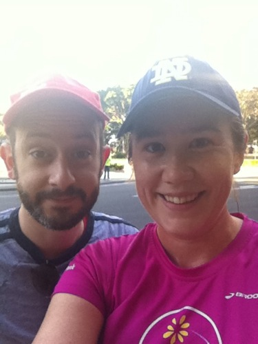 Me and Snookums before the start of the MDC 2011