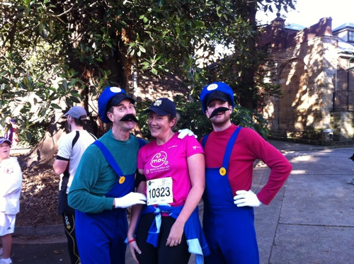 Me and the SUPER MARIO BROTHERS before the start of the MDC 2011