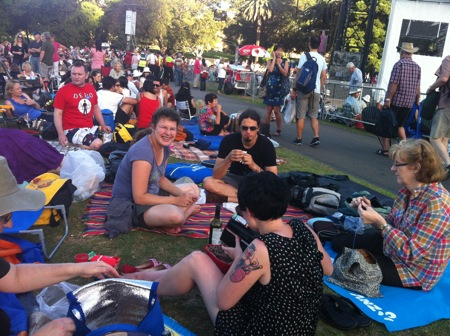The crowd - Opera in the Domain 2011