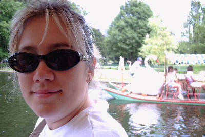Me on the swan boats