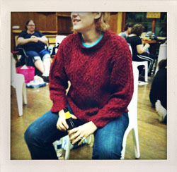 Me at Knitting Camp