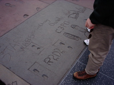 Footprints at Grauman's Chinese Theater