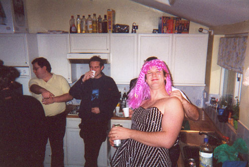 Alex getting into the party spirit