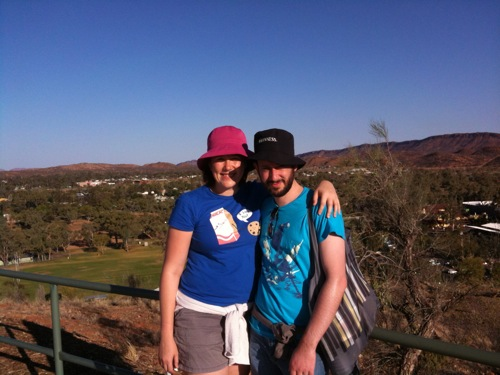Me and Snookums on ANZAC Hill