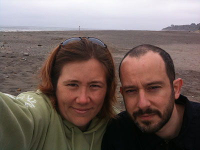 On Bolinas beach