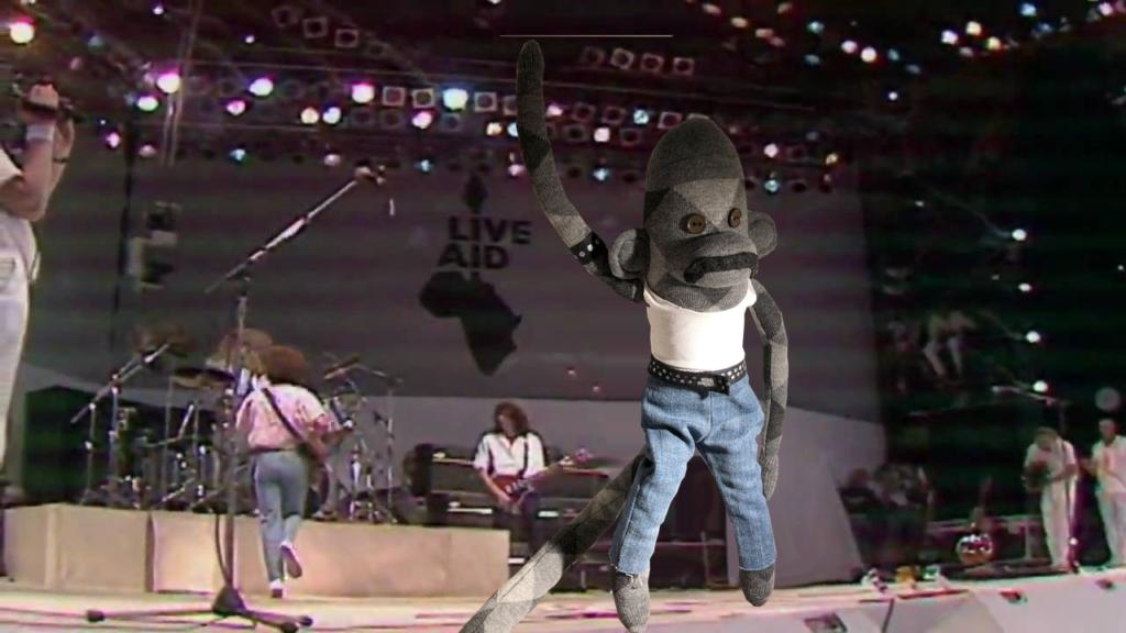 Freddie Monkcury at Live Aid