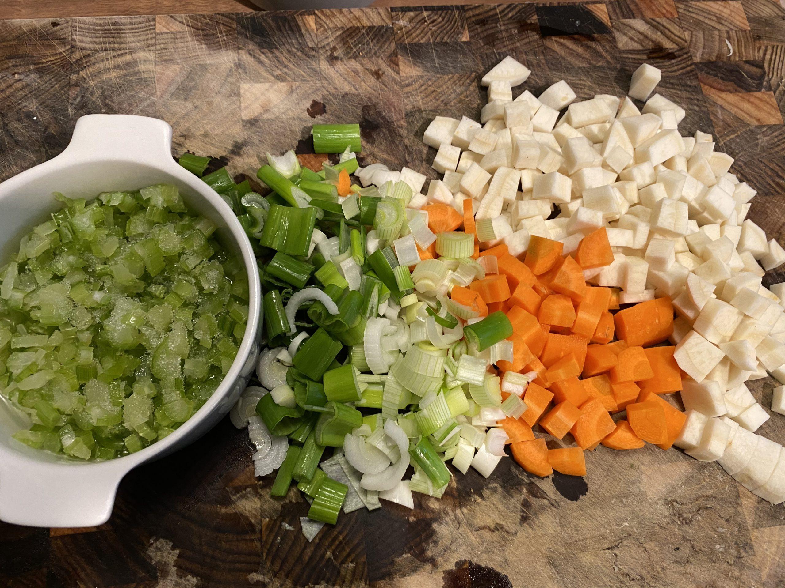 Prepping veg
