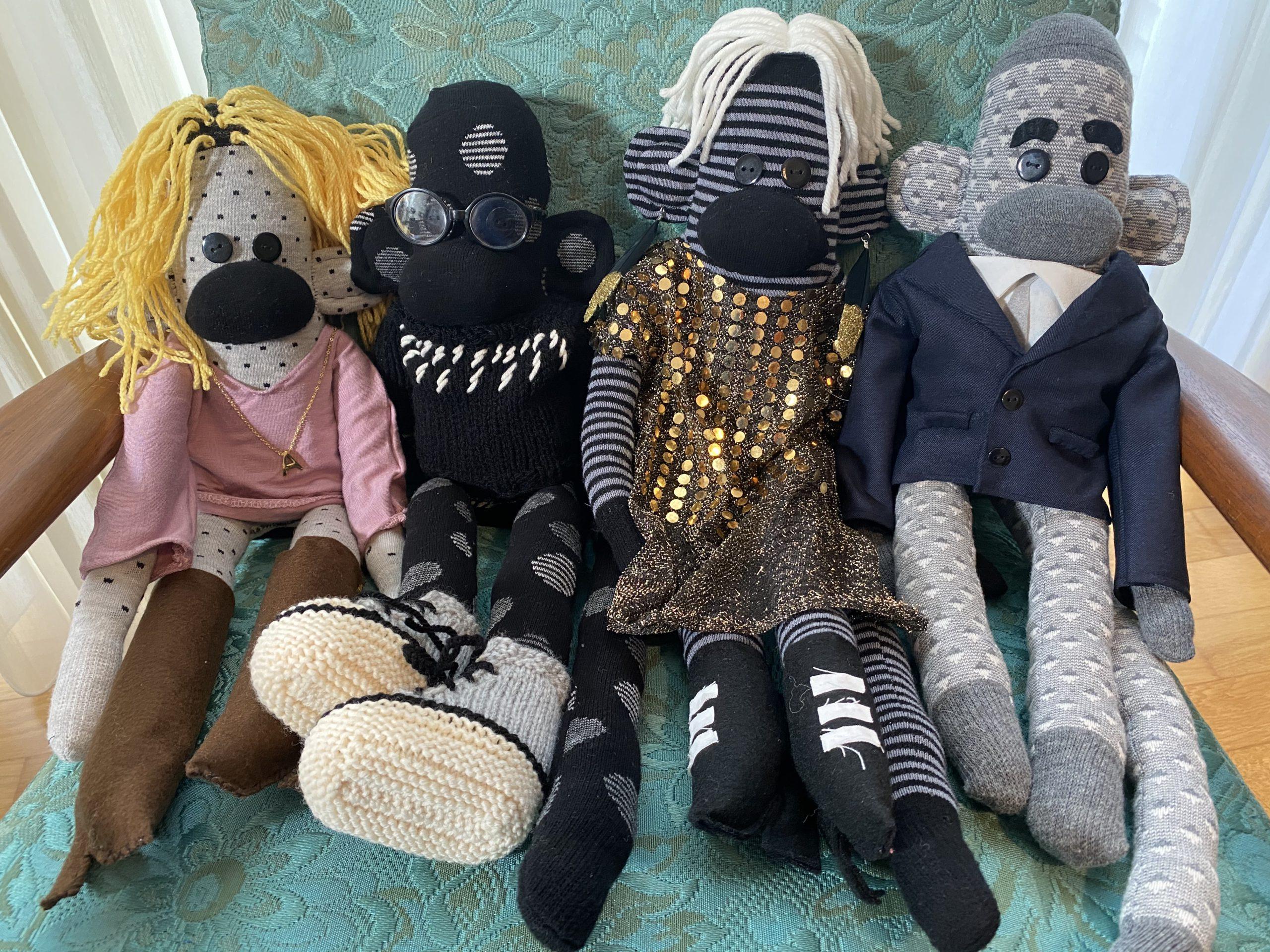 Rose Family Sock Monkeys
